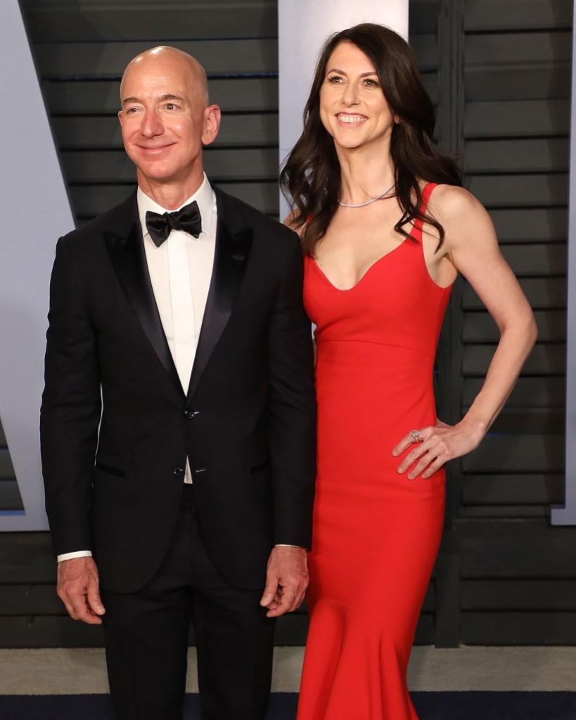 Jeff Bezos Mackenzie Bezos Vanity Fair Oscar Party 2018