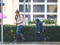 Braving The Storm Jennifer Garner And Co Bundle Up During Rare Rainfall in LA