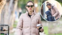 Braving The Storm Jennifer Garner And Co Bundle Up During Rare Rainfall in LA