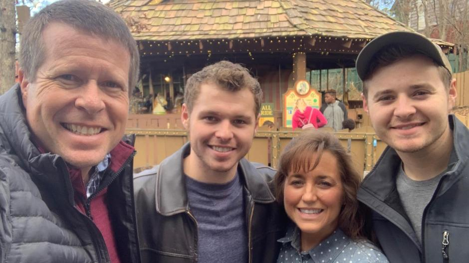 Jeremiah and Jedidiah Duggar Smile With Parents Michelle and Jim Bob