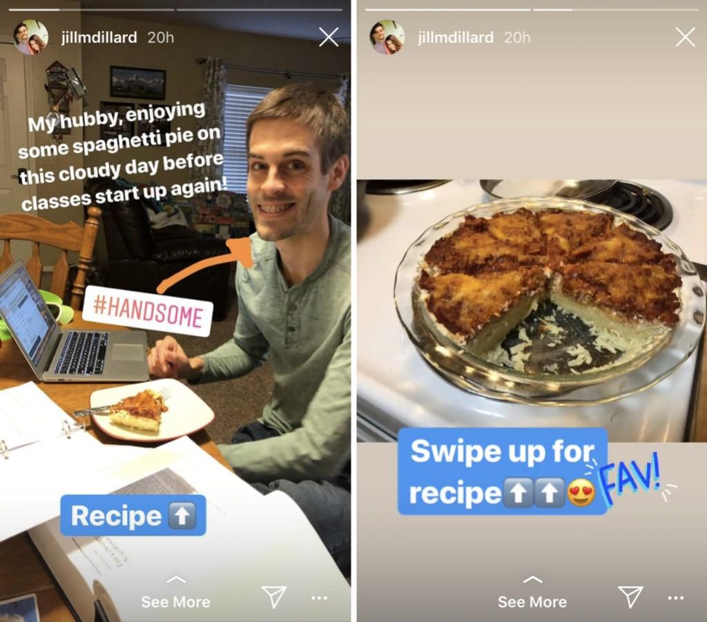 Jill Duggar Cooks Spaghetti Pie For Derick Dillard