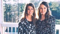 Jinger and Jana Pose In Matching Floral Dresses