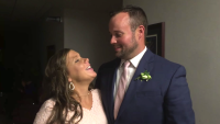 Josh And Anna Duggar Smiling At Each Other