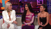 Khloe, Kim, and Kourtney Kardashian on Andy Cohen's Watch What Happens Live