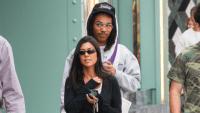 Kourtney Kardashian walking in LA with Luka Sabbat