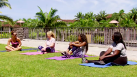 Married At First Sight Stars Sit And Chat On Yoga Mats