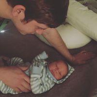 Newborn Gideon Forsyth With Dad Austin