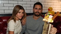 Scott Disick And Sofia Richie Sit In Booth And Eat Fancy Dessert