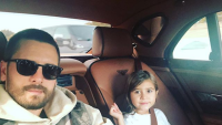 Scott Disick taking a selfie with his daughter Penelope
