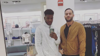 Jay Smith with Jonathan Rivera at a mall
