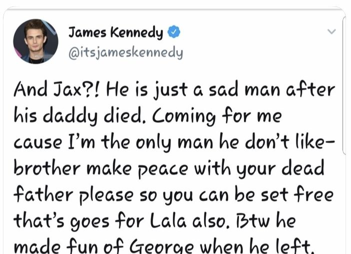 Vanderpump Rules Star James Kennedy Calls Out Co Stars On Twitter