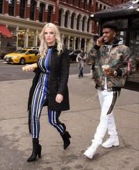 Ashley Martson and Jay Smith Leaving Starbucks