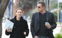 Ben Affleck and Jennifer Garner walking in L.A.