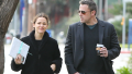 Ben Affleck and Jennifer Garner walking in L.A.
