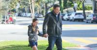 Ben Affleck and Seraphina Affleck out and about