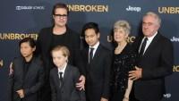 Brad Pitt kids Unbroken premiere