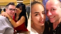 Selfie of Colt Johnson and Larissa Dos Santos Lima and Selfie of David Toborowsky and Annie Suwan