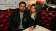 Scott Disick and Sofia Richie at a restaurant together