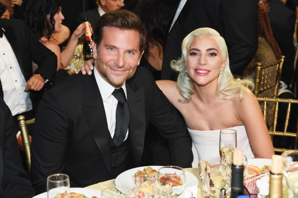 Lady Gaga with Bradley Cooper at an awards show