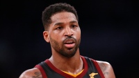 Tristan Thompson playing in a basketball game