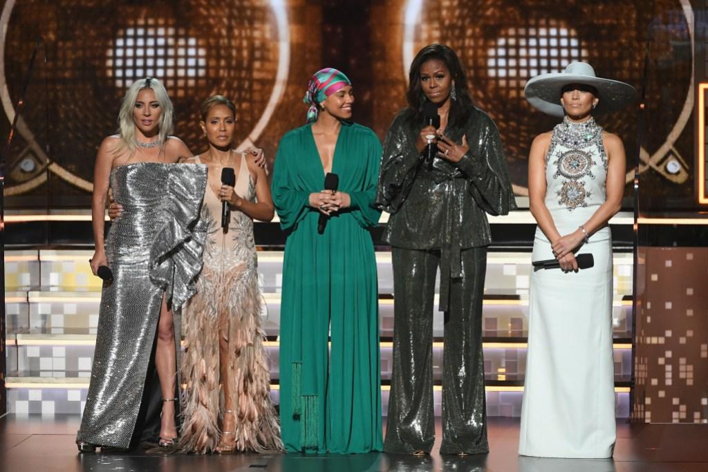 Lady Gaga Jada Pinkett Smith, Alicia Keys, Michelle Obama, Jennifer Lopez 61st Annual GRAMMY Awards