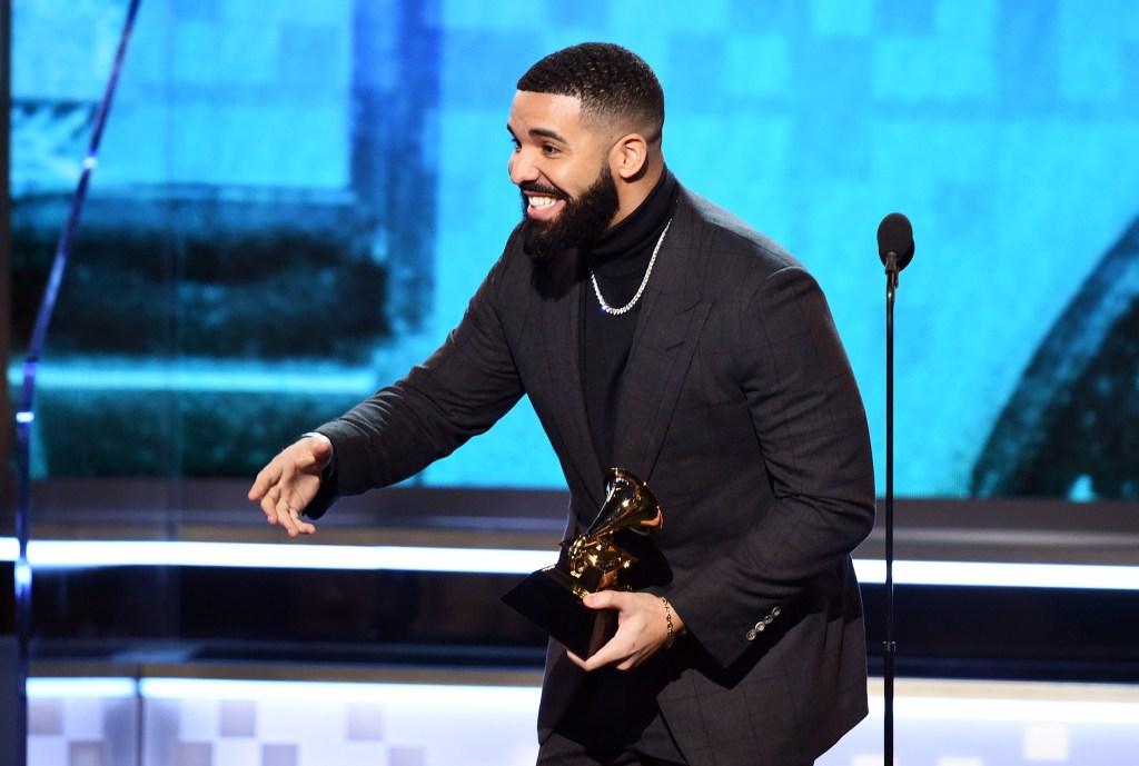 Drake wearing all black