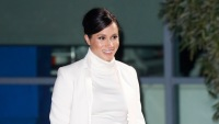 Meghan Markle wearing a white outfit