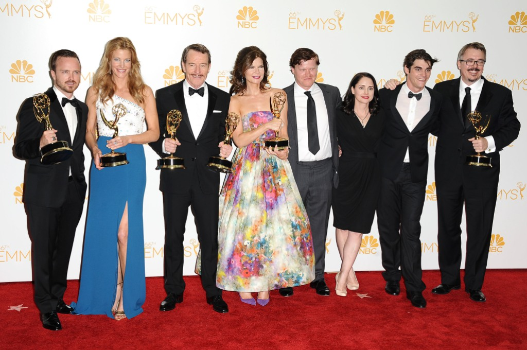 The cast of Breaking Bad at the Emmy Awards
