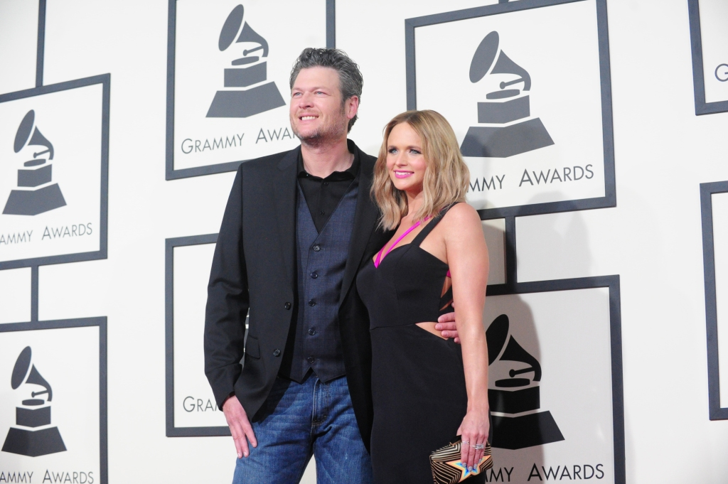 Blake Shelton with Miranda Lambert at an event