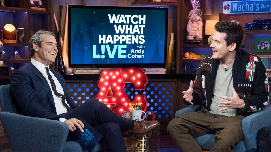 Andy Cohen with John Mayer on Watch What Happens Live