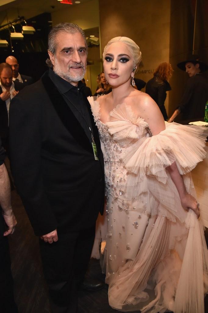 Lady Gaga with her dad Joe
