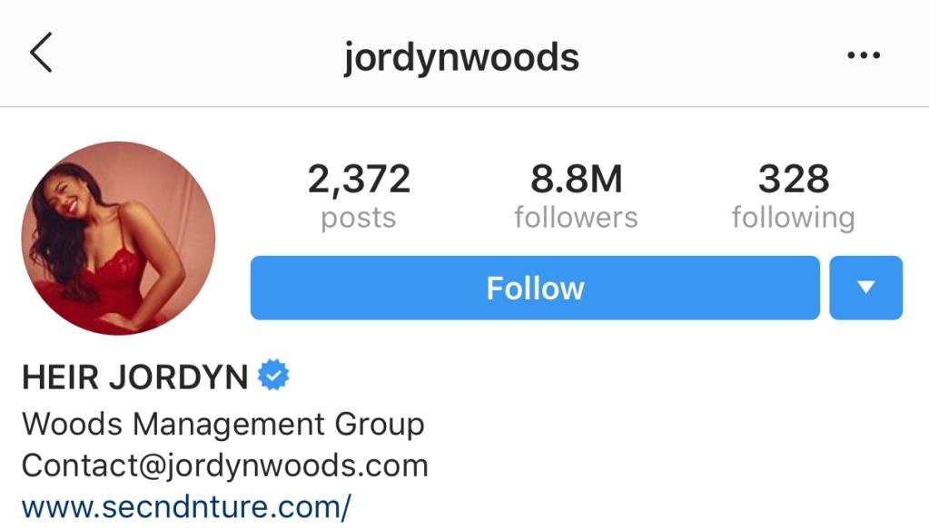 jordyn woods instagram page