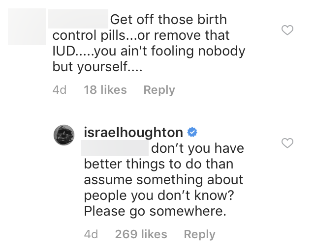 Israel Houghton Claps Back At Hater On Instagram