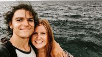 Jacob Roloff and Isabel Rock Take Selfie At Ocean
