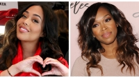 A split image of Jordyn Woods and Khadijah Haqq