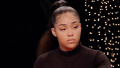 Jordyn Woods on the set of Jada Pinkett Smith's Red Table Talk