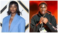 A split image of singer Justine Skye and rapper Sheck Wes