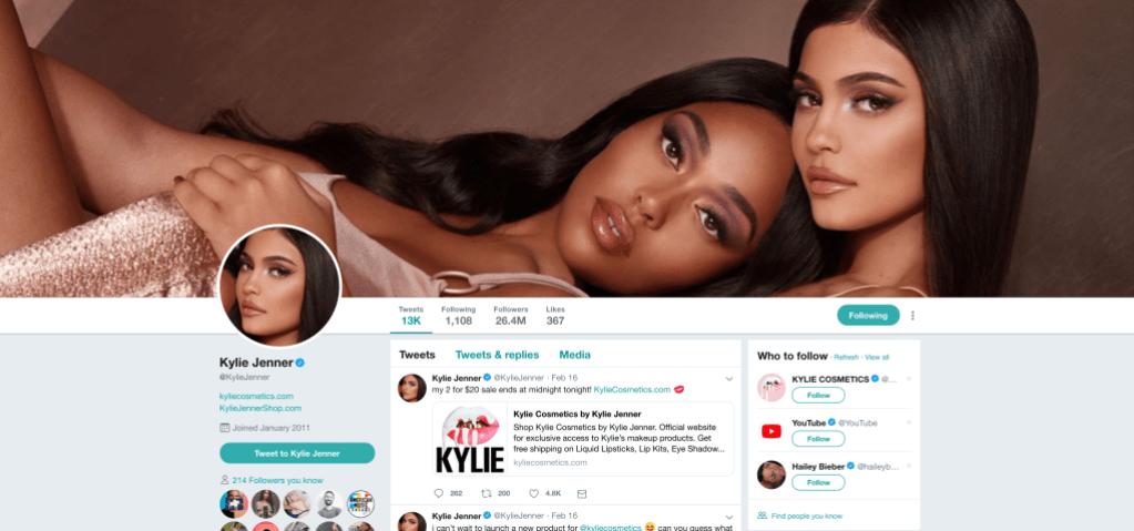 Kylie Jenner Twitter Background