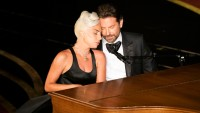 Lady Gaga Bradley Cooper orange
