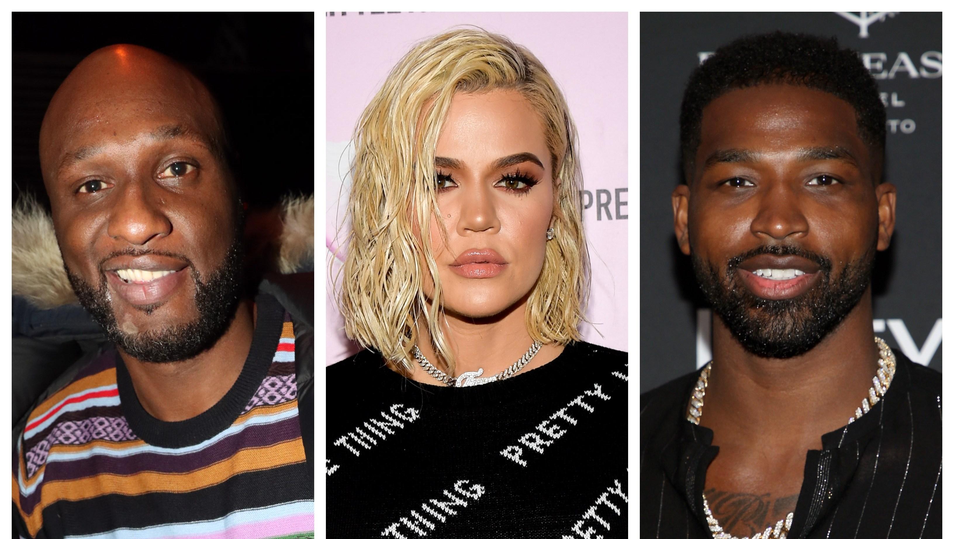 Lamar Odom, Khloe Kardashian, Tristan Thompson