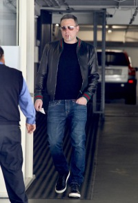 EXCLUSIVE: Ben Affleck Seen heading out a meeting smoking and in Gucci after his car was towed