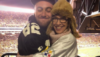 Mac Miller mom goes to grammy awards with cazzie david