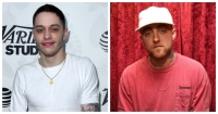 A split image of Pete Davidson and Mac Miller
