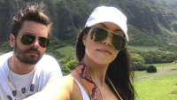 Scott Disick and Kourtney Kardashian taking a selfie