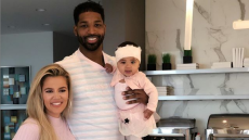 Khloe Tristan with baby True