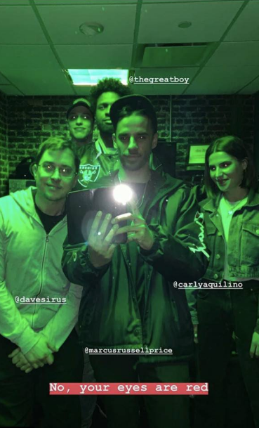Pete Davidson with some friends