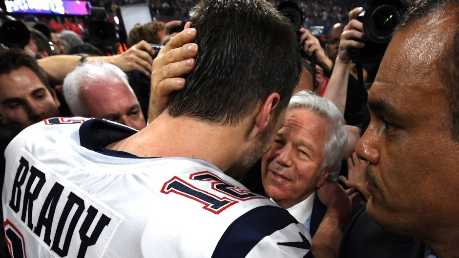 Tom Brady Embraced By Patriots Owner Robert Kraft After Super Bowl Win