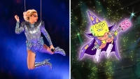 Lady Gaga Next To SpongeBob Singing Goofy Goober