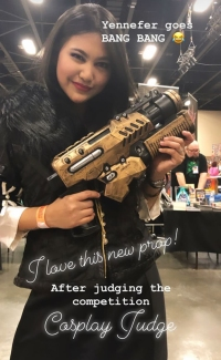 90 Day Fiance Star Leida Judges at a Cosplay Convention