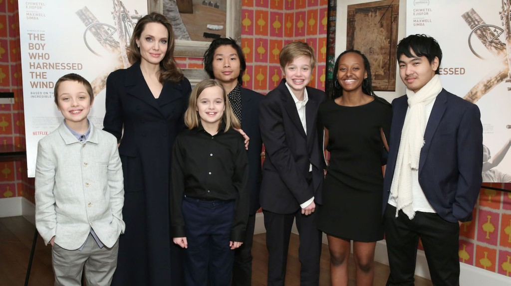 Angelina Jolie kids the boy who harnessed the wind
